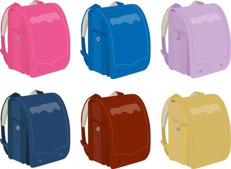 Color school bag