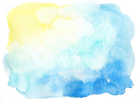 水彩画の背景-黄青