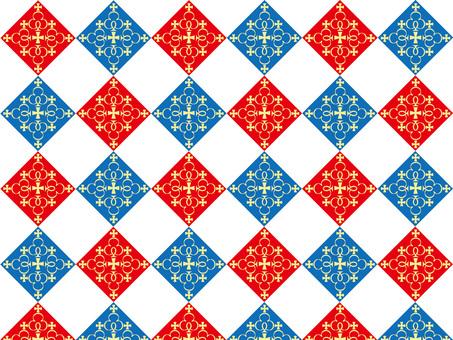 Cross decoration 1 Tricolor