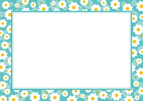 Blue flower frame -1
