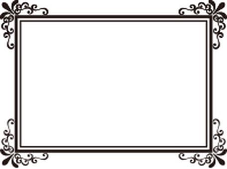 Decorative frame gold rectangle