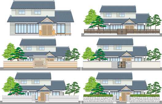 There are 4 edges of Japanese houses with mochi
