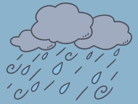 絵本のような台風背景
