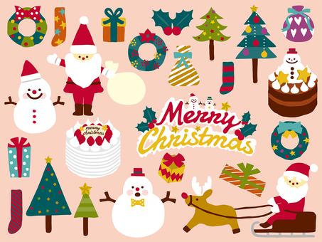 手書き風クリスマスイラストセット