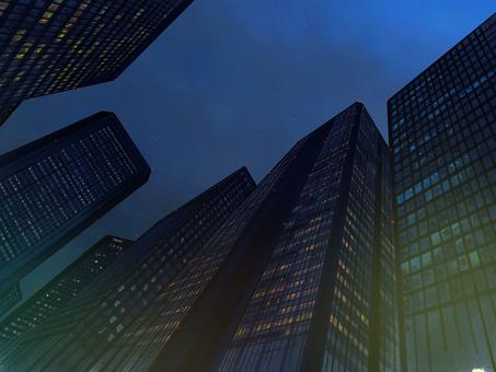 Night Building City