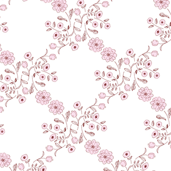 【Pattern】 Hand-painted flower 4