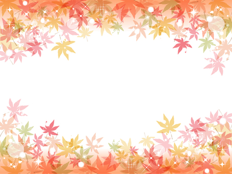 Simple light in fall Autumn leaves background Maple 02