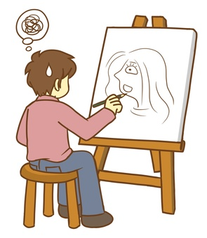 A person who draws a picture