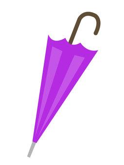 封閉的傘_紫色