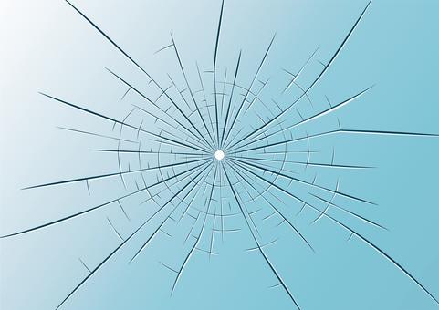 Cracked glass cracks wallpaper