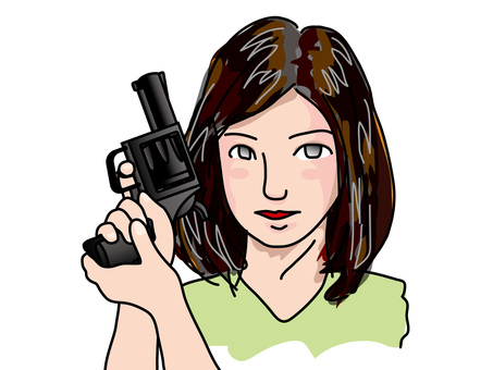 A woman holding a handgun (1)