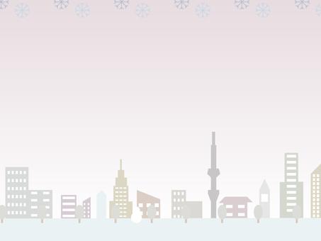 Winter cityscape (evening)