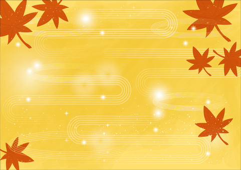 Background _ and wave line _ autumn