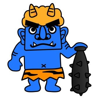 Scary blue demon (whole body)