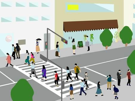 도시 걷는 사람