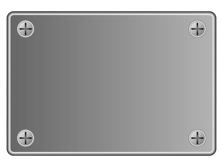 Panel screw plate