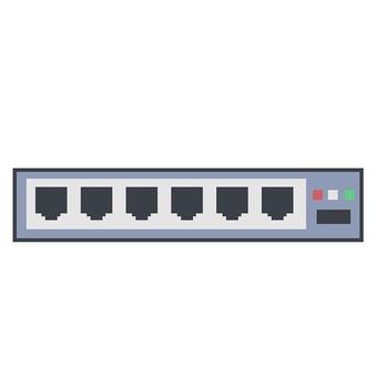 LAN port switching hub