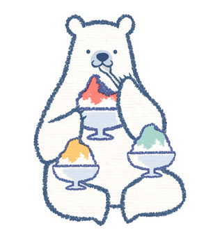 Shaved ice polar bear
