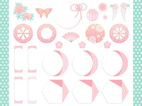 Spring Japanese style set
