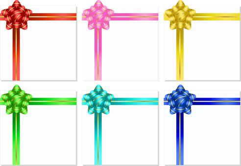 ai 6 color gold line gift ribbon