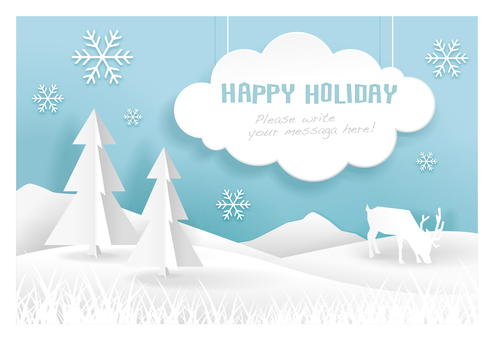 Winter message card