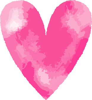 Heart _ watercolor _ 07 _ pink