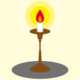 Dark under the lamp し