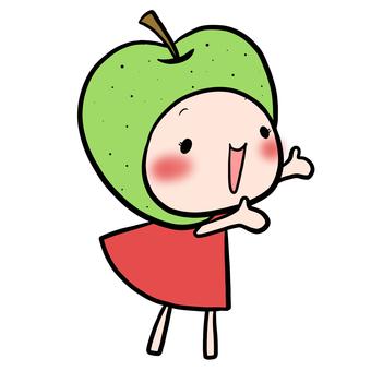 오른쪽으로 손을 올리는 없음 요정 녹색 옷 빨간색