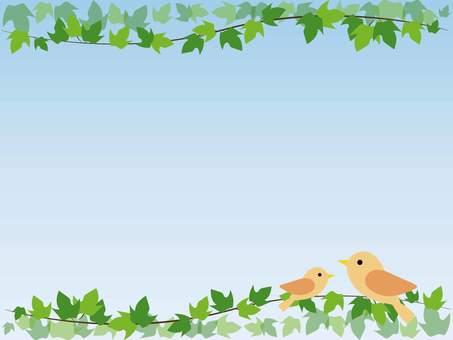 Ivy and bird frame
