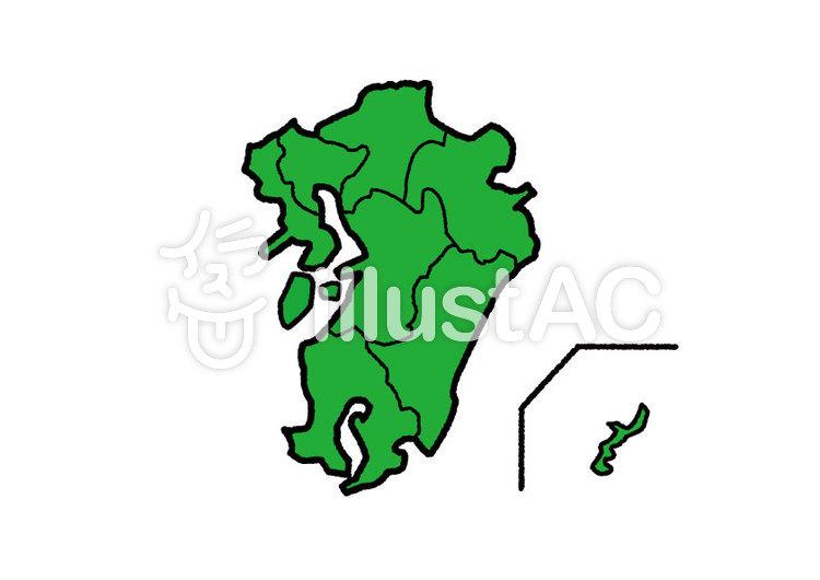 九州沖縄地図イラスト No 1035809無料イラストならイラストac