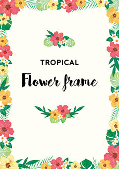 Tropical Flower Frame 2