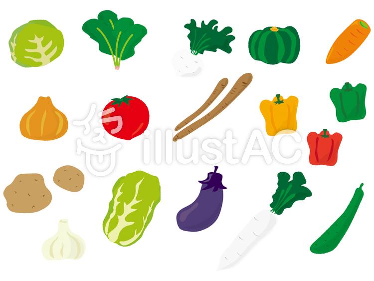 野菜セット 手書き風 1イラスト No 422096無料イラストなら