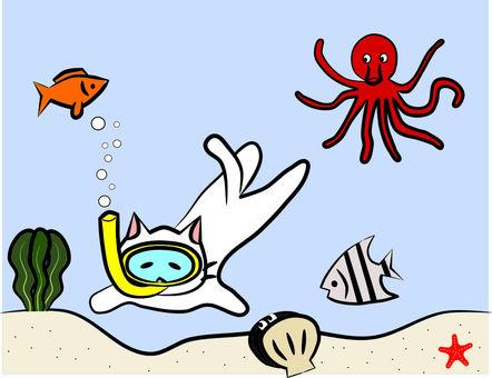 Nyanko diving