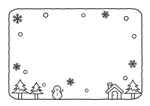 Snowy day frame