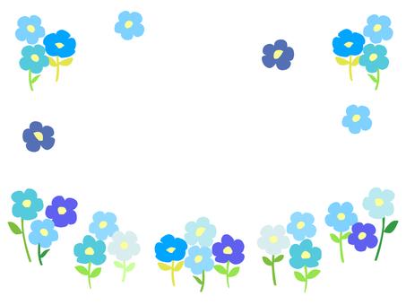 Flower card (Blue series)