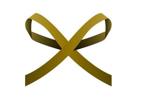 Simple thin ribbon (gold)