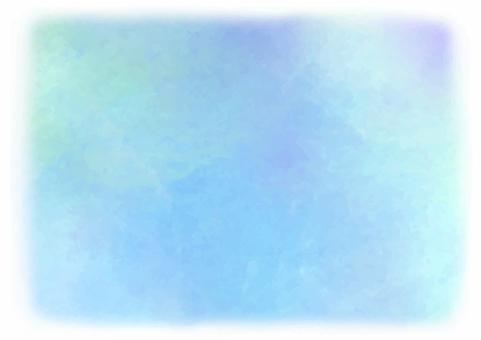 수채화 풍의 배경 소재 _ 블루