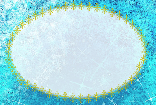 Snow crystal card (blue series)