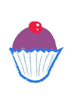 杯形蛋糕(櫻桃)手寫