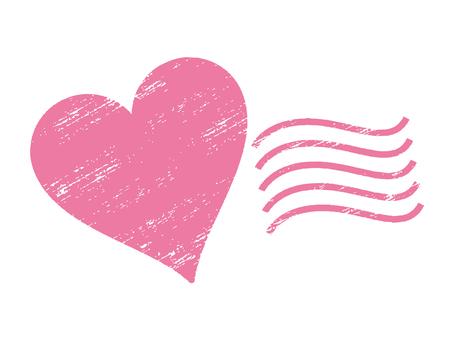 Grunge Hanko (Heart)