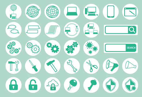 Simple icon set _ Web