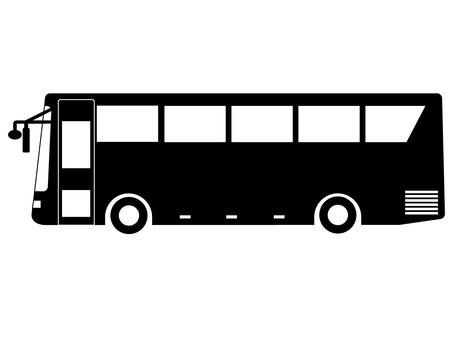 Tourist bus silhouette