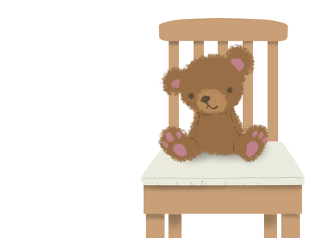 Teddy and chair