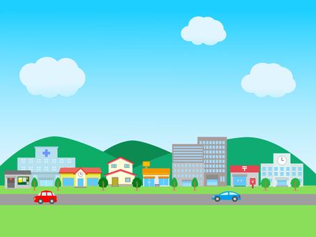 거리 건물 풍경