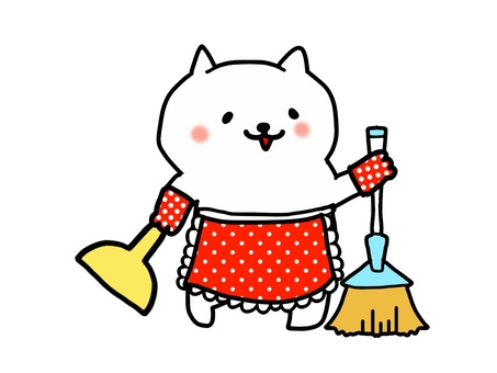Fashionable cat's cleaning 2