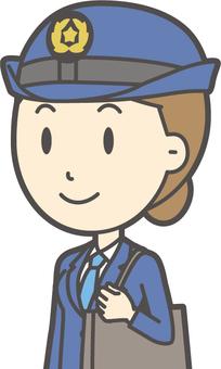 여성 경찰관 -350- 가슴