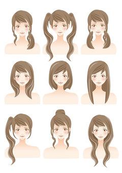 女性的髮型