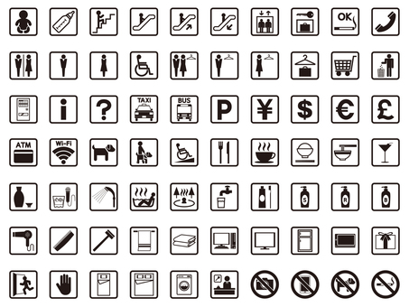 Facility icon set