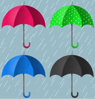 Umbrella 4 types set