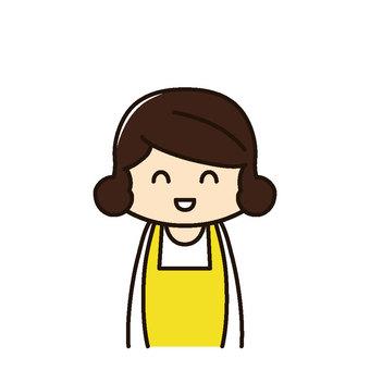 Clerk / housewife Smile
